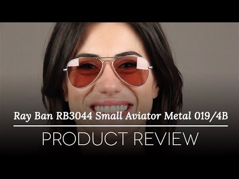 Ray Ban Rb3044 Aviator Small Metal Sunglasses Review Youtube