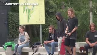 (VIDEO) Justin Bieber PANTS DOWN, Shows off Skateboarding Skills In Berlin, Germany