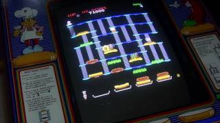 BurgerTime arcade high score - Original Cabinet - Strategy & Review - 1982 Bally Midway Data East