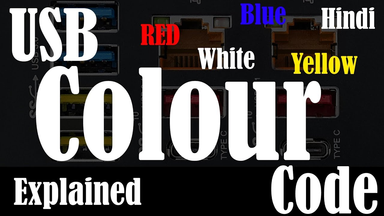 Hindiusb Color Code Usb Cable Red Port Yellow Wiring Colours Explained