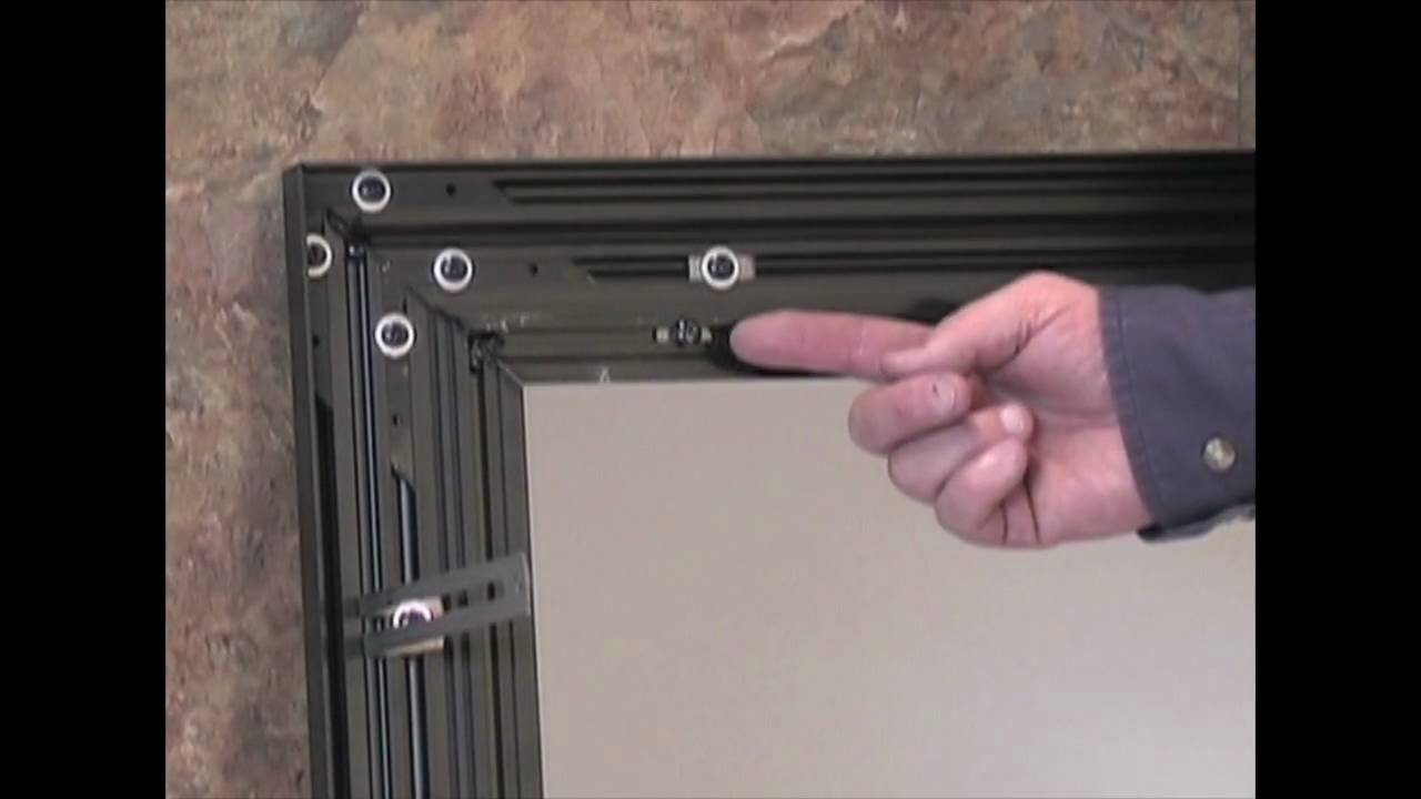 How to Install Mesh Curtains for Fireplace Glass Doors This video show you exactly how to install mesh curtains for fireplace glass doors. http://brick-anew....