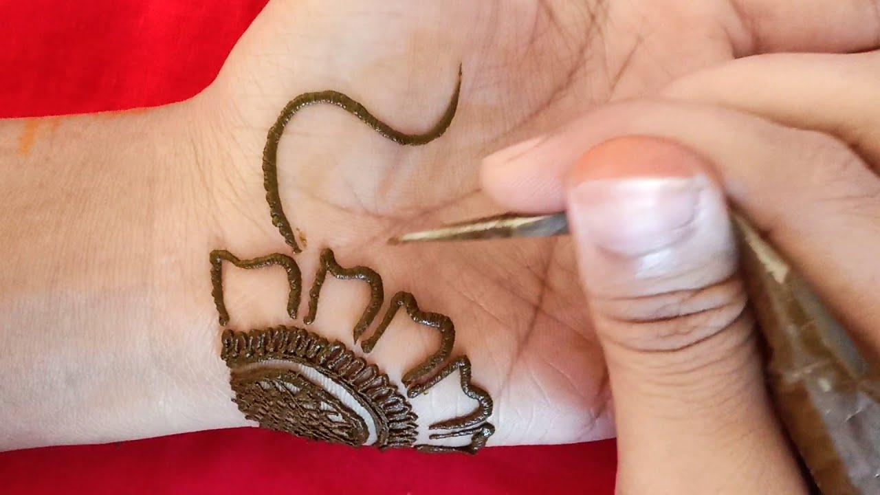 arabic easy mehendi designs for palm