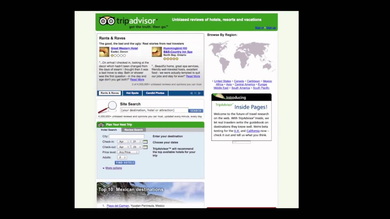 The Web Evolution Of TripAdvisor