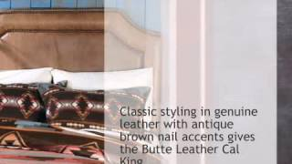 Butte Leather Headboard - Cal King - Lonestarwesterndecor.com