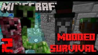 VILLAGE MURDERER/Enter Lycanite! | Minecraft 1.7.10 Modded Survival Ep. 2