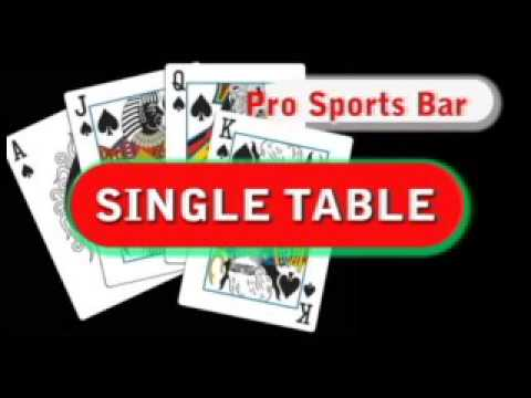 Pro Sports Bar All Fours  Round-Robin Single Table  Competition......