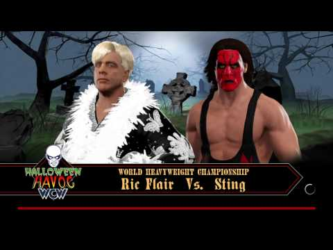 WWE 2k17 Sting  Vs Rick Flair Halloween Havoc WCW World heav