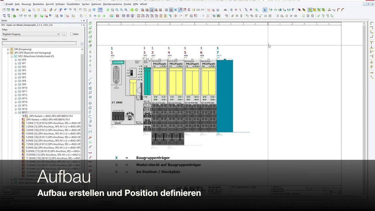 EPLAN SPS-Makro mit Wertesatz (ET200S) - YouTube