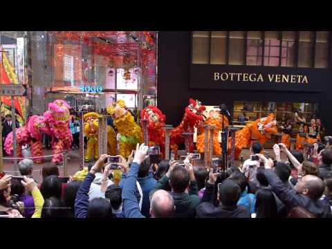 Hong Kong Chinese Lunar New Year 2017 - Lion Dance Performance @ Causeway Bay SOGO