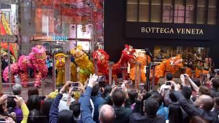 Hong Kong Chinese Lunar New Year 2017 - Lion Dance Performance @ Causeway Bay SOGO