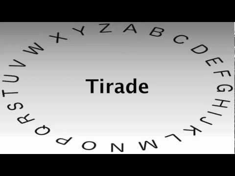 SAT Vocabulary Words and Definitions — Tirade