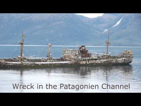 Wreck of a ship in the Patagonian Channel, Chile, Capitan Leonidas MV