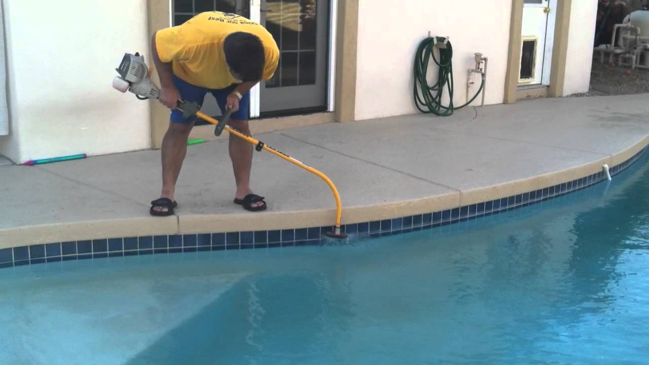 Removing Calcium Line From Pool Youtube