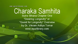Http://ayurlibrary.com helps you to learn ayurveda by giving a brief overview of charaka samhita sutra sthana first chapter - dirghajivitam adhyaya or quest ...