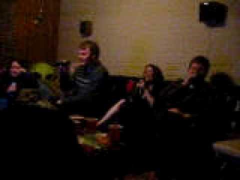 20031231-20040101 - New Year's - 100 0037 - karaoke - Doug, Carolyn, Kipp