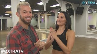 Nikki Bella & Artem Chigvintsev - DWTS Rehearsal Interview with Extra