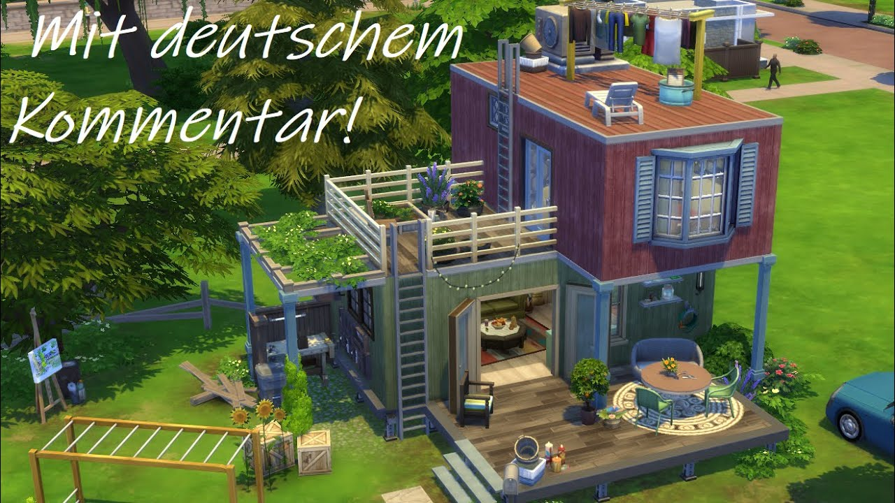 Sims 4 Speed Build Deutsch Diy Container Haus FÜr Eine Familie Youtube