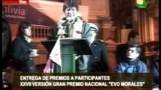 Entrega de premios de la XXVII versión del Gran Premio Nacional Evo Morales de automovilismo