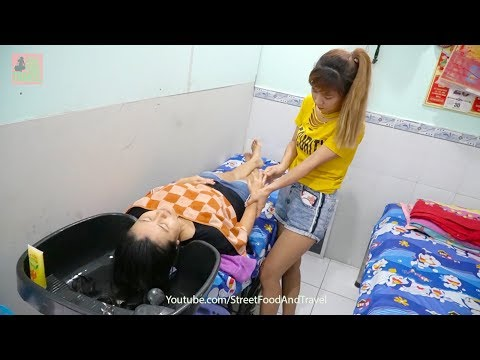 Vietnam Barber Shop Massage Relaxing With Pretty Girl Just 4$