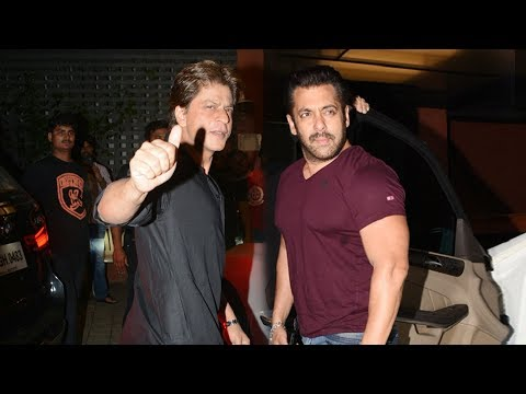Shahrukh Khan And Salman Khan Together At Arpita Khan's DIWALI Party 2017
