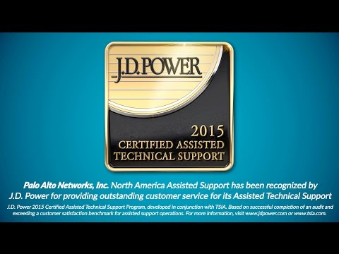 Palo Alto Networks Recognized by J.D. Power and TSIA for Exceptional Support Service