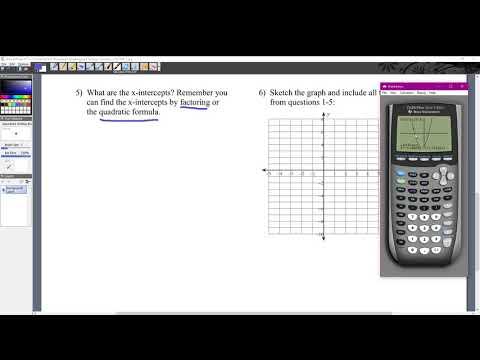 Y Intercept and X Intercept (Graphing Calculator)
