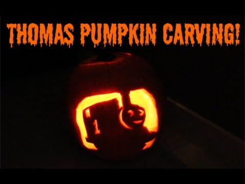 thomas pumpkin template - thomas the tank engine halloween pumpkin carving youtube