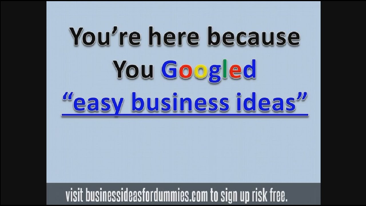 Easy Business Ideas Starting A Small Business In Youtube