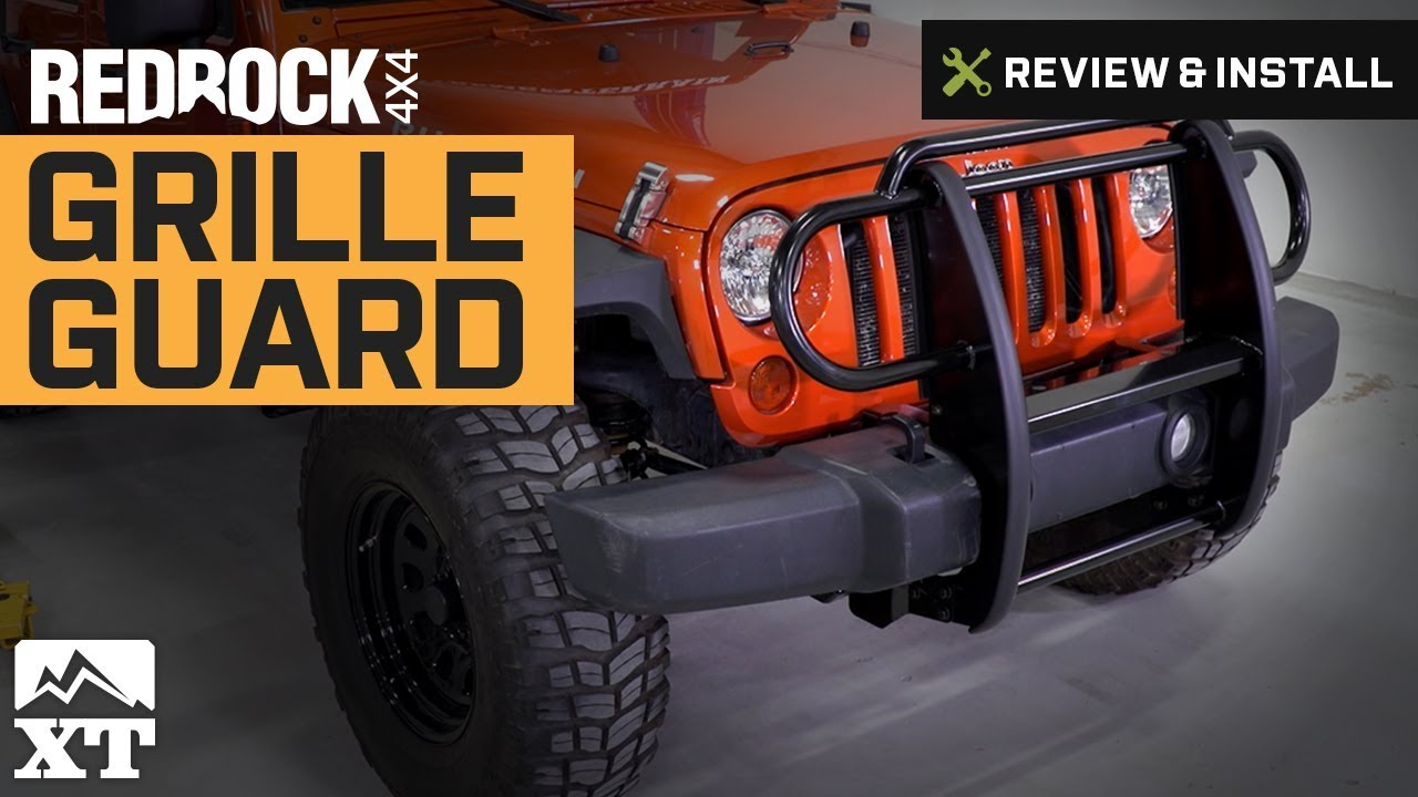 Jeep Wrangler (2007-2017 JK) RedRock 4x4 Grille Guard Review & Install - YouTube