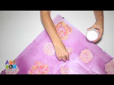 Tutoriel peinture sur soie artbox silk alpino youtube for Technique de peinture sur soie en video