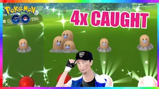 4x SHINY DIGLETT CAUGHT during Earth Day Event in Pokemon Go!