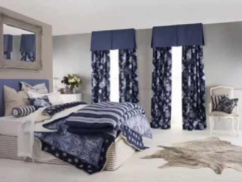 Navy blue bedroom decorating ideas - YouTube