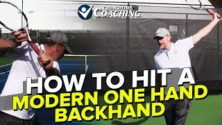 Backhand Lesson: Ultimate Guide to a Modern One Hand Backhand