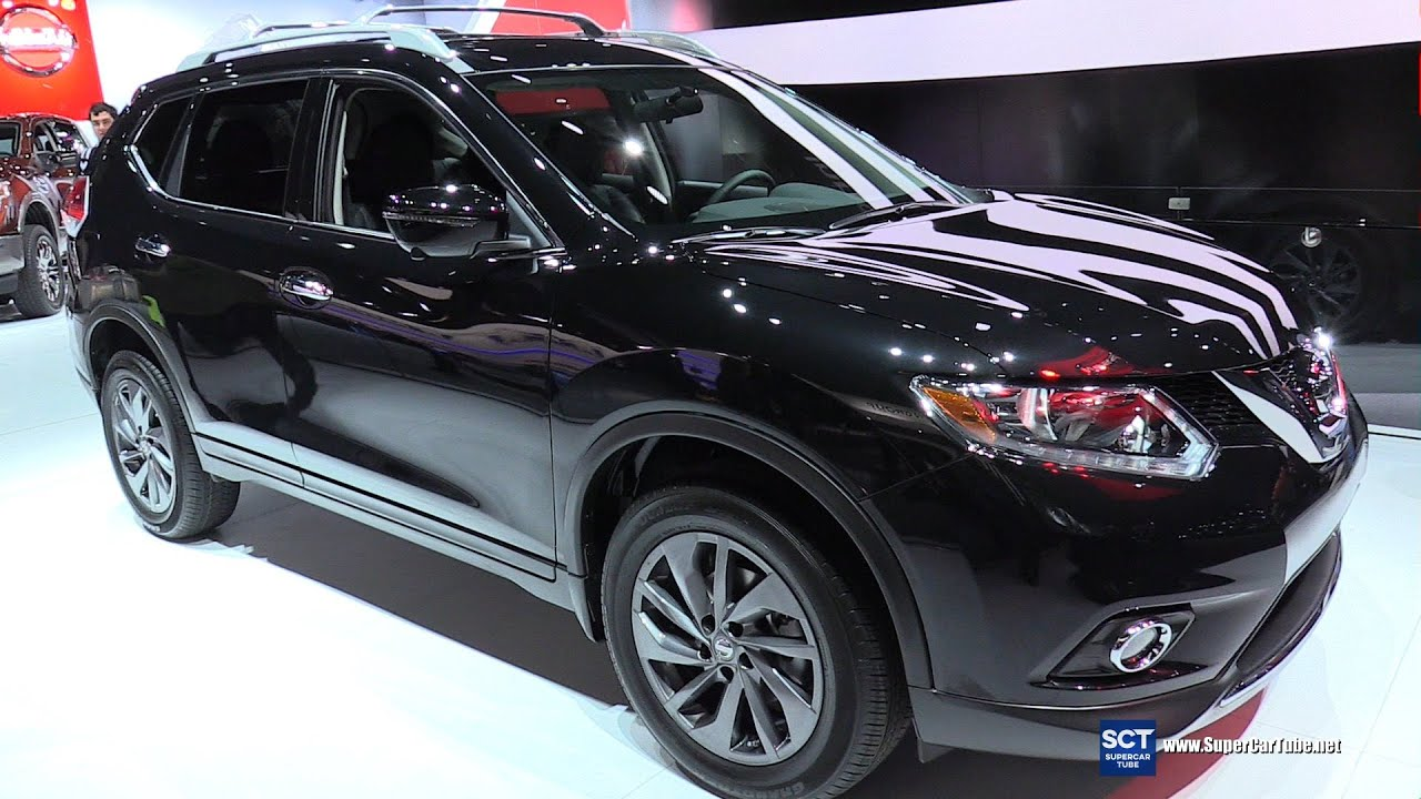 2016 nissan rogue sl awd exterior and interior walkaround 2016 detroit auto show youtube