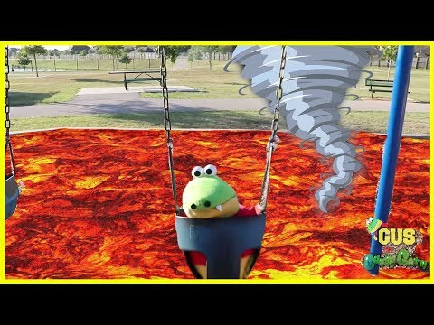 Pretend Play The Floor is Lava Challenge and Natural Disaster IRL! Family Fun Kids Pretend Playtime