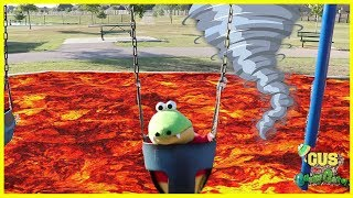 Pretend Play The Floor is Lava Challenge and More Kids Games