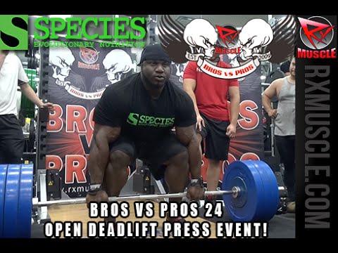 BROS VS PROS 24 Open Deadlift Challenge!