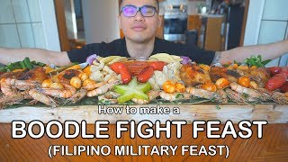 How to make a BOODLE FIGHT FEAST (Filipino Military Feast)