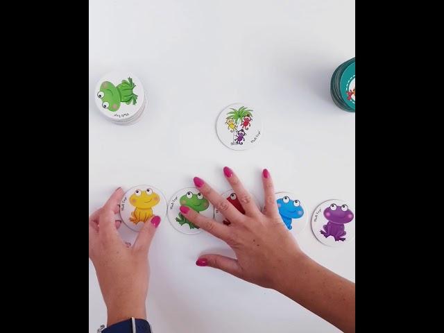 Vladi Toys VT8020-02 Настольная игра в тубусе Цветные лягушата