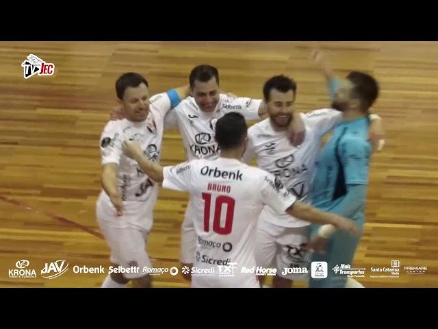 TV JEC - JEC/Krona 3x0 Jaraguá Futsal - 15ª rodada LNF