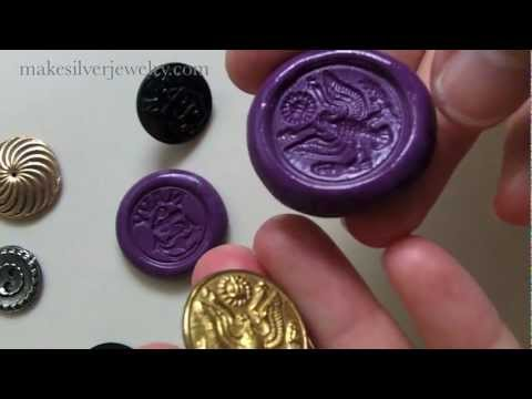 How to Mold Antique Buttons for Jewelry Components