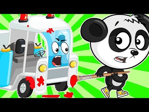 Учим Цвета и Правила Дорожного Движения - Развивающий Мультфильм Про Машинки Для Детей