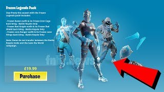 "$25 FORTNITE ""FROZEN LEGENDS"" SKINS BUNDLE OFFICIALLY RELEASING TO THE ITEM SHOP!"