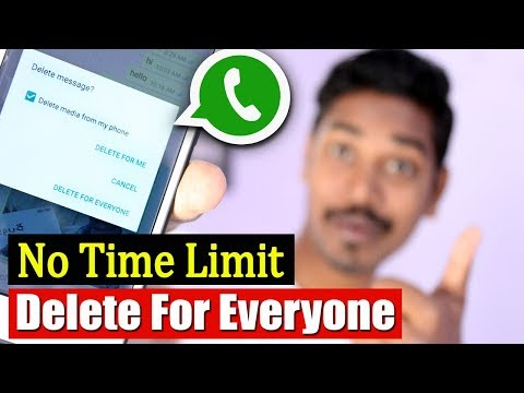 Whatsapp Delete For Everyone Feature | No Time Limit Whatsapp Trick