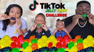 TIKTOK JELLY FRUIT FOOD CANDY CHALLENGE (SIS VS BRO) | THE BEAST FAMILY