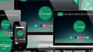 Zuveriya Responsive Single Page HTML5 Template + Download