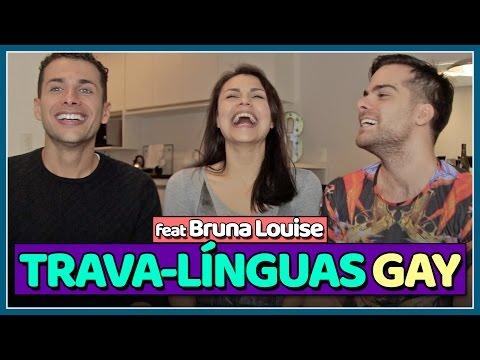 DESAFIO DA LÍNGUA GAY ft Bruna Louise - Jogação - Põe Na Roda