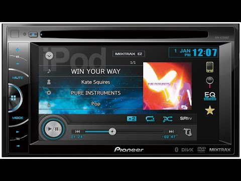 Pioneer Avh X2580bt Mixtrax Auto Radio Cd Dvd Usb Bluetooth