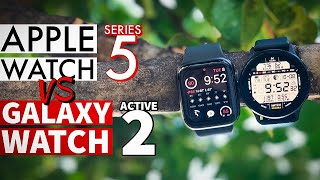 Apple Watch Series 5 vs Galaxy Watch Active 2!