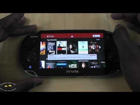 Neflix app on the PS Vita- Booredatwork.com